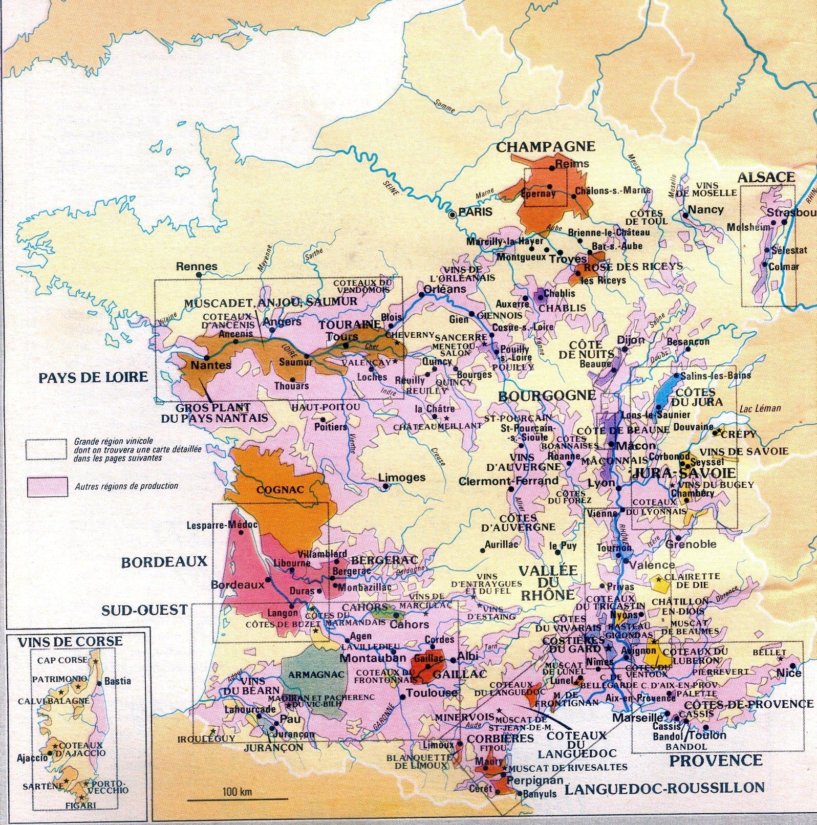 Les Regions Viticoles Francaises Ce Thales Valence